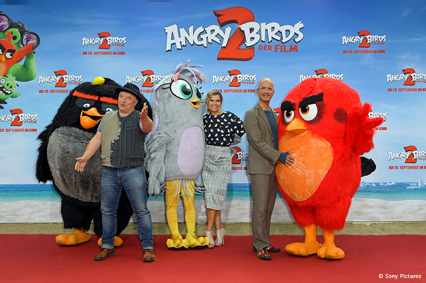 Angry Birds 2: Bunte Deutschlandpremiere in Berlin